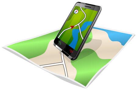 navigation and map Illustration