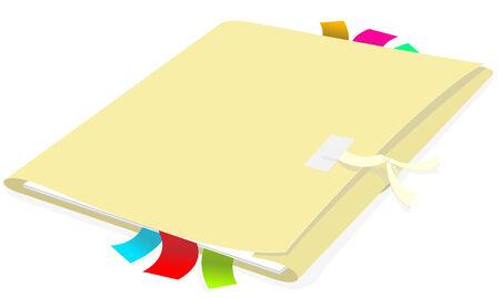Folder with document Illustration