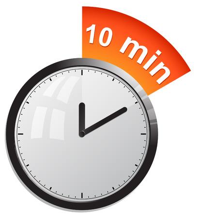 klok, timer 10 minuten