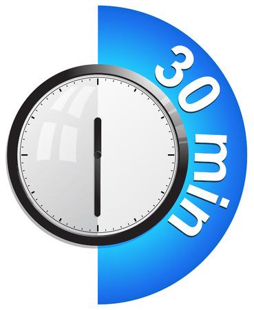 reloj, temporizador de 30 minutos Vectores