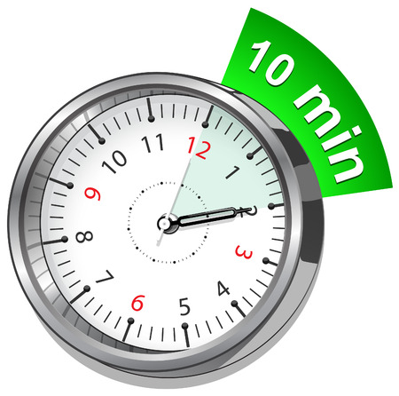 timer showing ten minute
