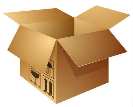 tare: brown carton box Illustration