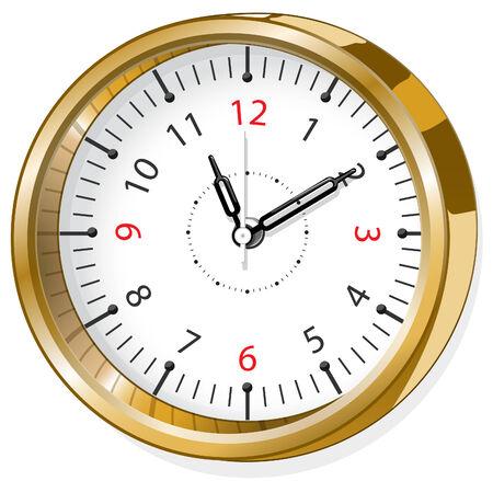 office clock: oficina reloj Vectores