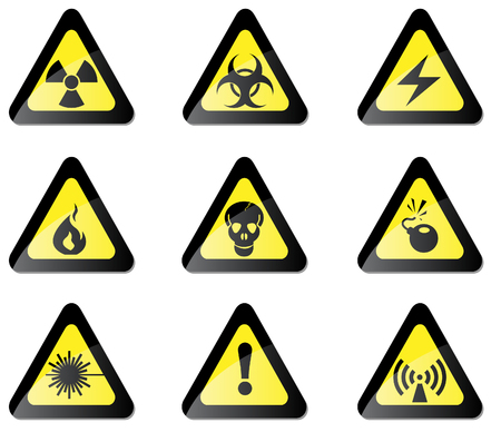 ionizing: Hazard Sign Illustration