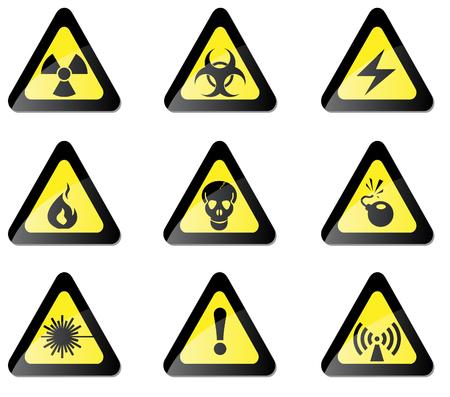 hazardous area sign: Se�al de peligro Vectores