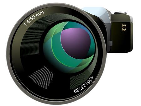 illustration of SLR Camera  Illustration