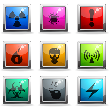 Hazard Sign Icons Stock Vector - 28223910
