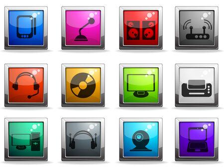 los medios de comunicaci�n icono de conjunto