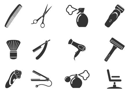 clippers: Barbershop symbols Illustration