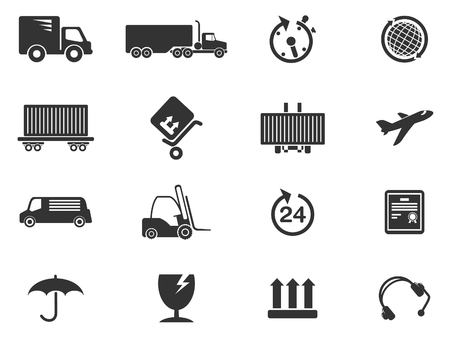 overnight delivery: cargo shipping symbols Illustration