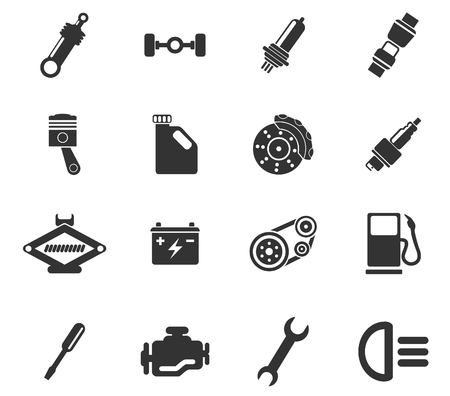 electric vehicles: Auto Service Icons
