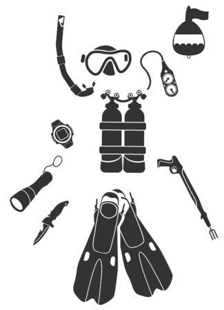 oxygen mask: Equipment for Diving