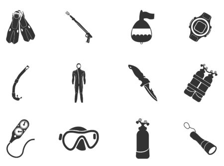 harpoon: Diving icon set