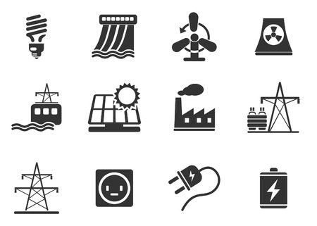 Icon Set, Energie en Industrie Stockfoto - 28490289