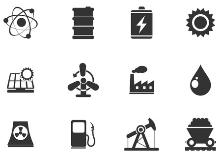 Icon Set, Energy and Industry Vector