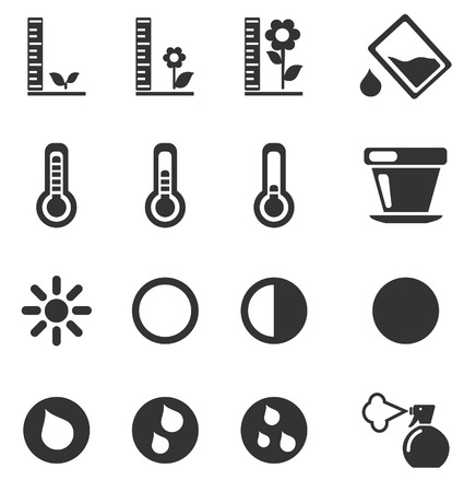 moderate: Plant Growing Sign Silhouette Icons