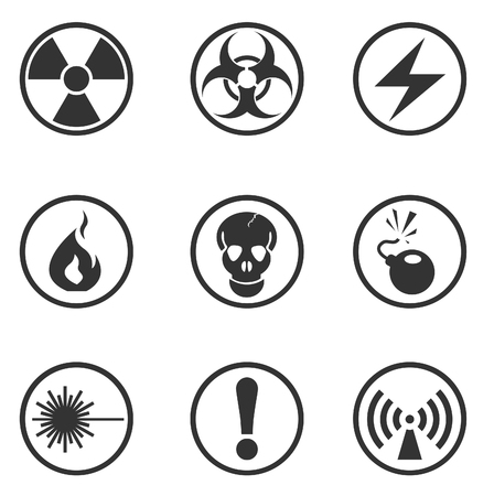 Hazard Sign Icons Stock Vector - 28490293