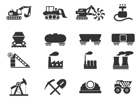 pick axe: Factory and Industry Symbols Illustration