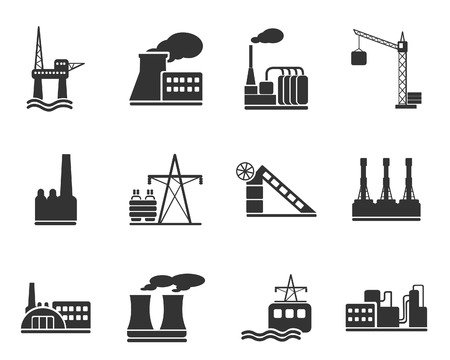 Factory and Industry Symbols Stock Vector - 28491043