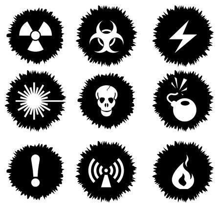 Hazard Sign Icons Vector