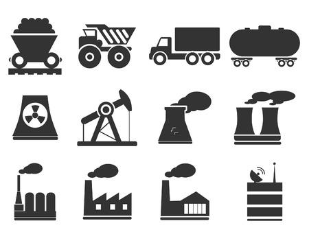 cinta transportadora: Fábricas e industrias Símbolos Vectores