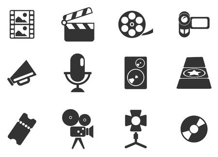 Iconos Industria cinematogr�fica Vectores