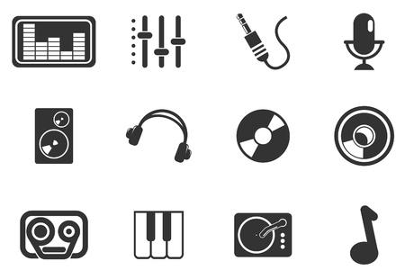 Iconos Audio y m�sica simple vector