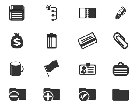 Office simple vector icons