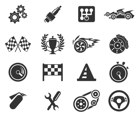 Racing pictogrammen Stockfoto - 28491348