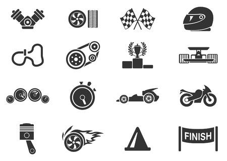 Racing pictogrammen Stockfoto - 28491349