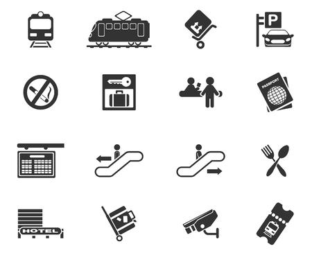 Train station symbols Vector