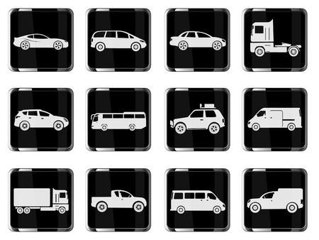 mini van: Vehicles Icon Set