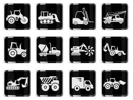 earth mover: Symbols of Transportation & Construction Machine Illustration