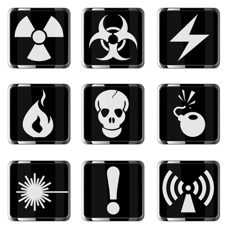 Hazard Sign Icons Stock Vector - 28563893
