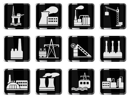 Usine et de l'industrie Symboles Banque d'images - 28563897