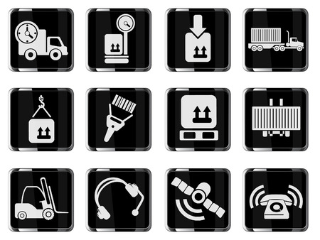 overnight delivery: Logistics icons Illustration