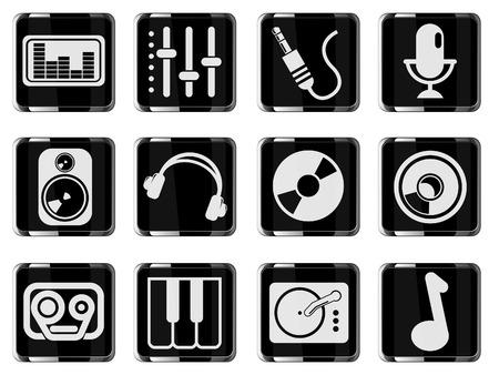 Audio & music icons Vector