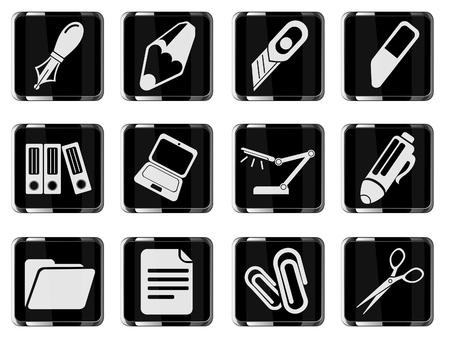 corrector: Office icons Illustration