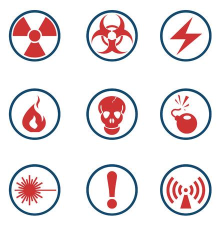 hazardous waste: Icone segno di pericolo