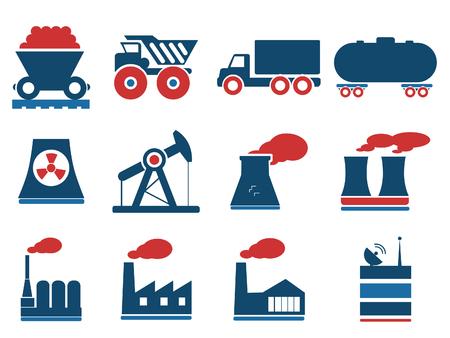 F�bricas e industrias S�mbolos Vectores