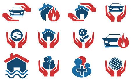 car insurance: insurance vector icons