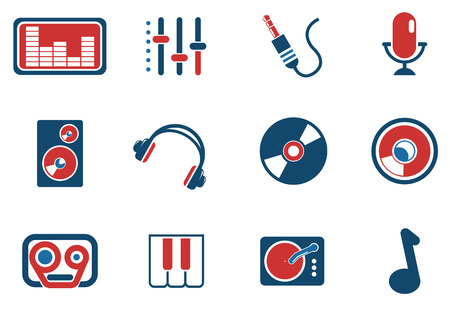 Audio & music simple vector icons Vector