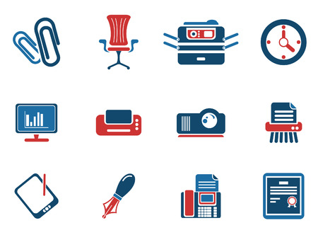 deleting: Office simple vector icons