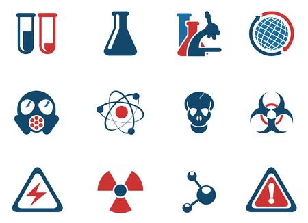gas mask danger sign: Science Symbols