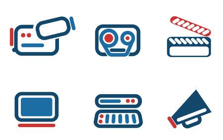 conjunto de icono de v�deo