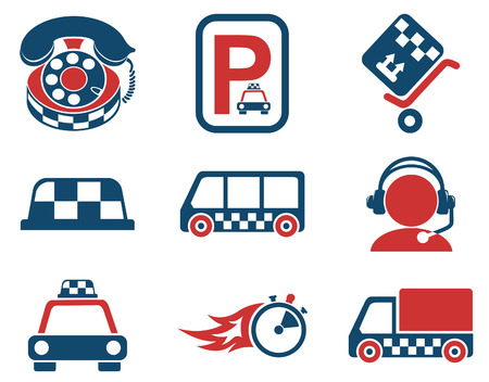 taxi services icon set Illustration