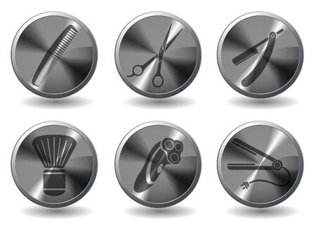 Barbershop icons Vector