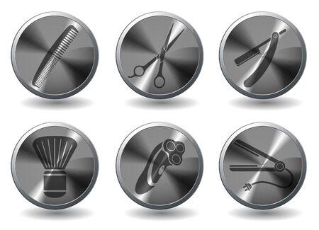 Iconos Barbershop Vectores