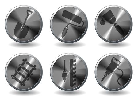 palette knife: Symbols of building equipment
