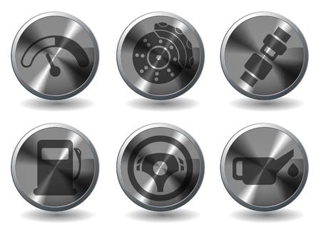 benzine: car interface symbols Illustration